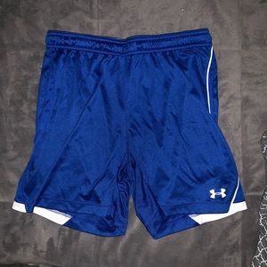 Under Armour Semi Fitted Blue Shorts